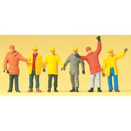 Preiser Arbeiter in Schutzkleidung, Satz von 6, Spur H0
