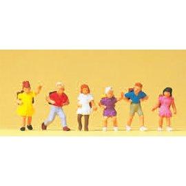 Preiser School children, 6 pieces kit, scale H0