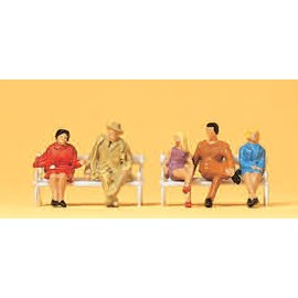 Preiser Sitzende Personen, Satz von 5, Spur H0