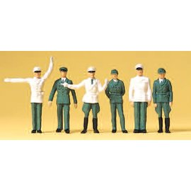 Preiser Police Germany, 6 pieces kit, scale H0