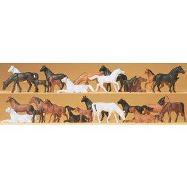 Preiser Pferde, Satz von 26, Spur H0