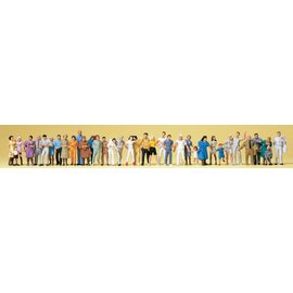 Preiser Standing and walking passers-by, 36 pieces kit, scale H0