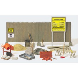 Preiser Building materials and tools, scale H0