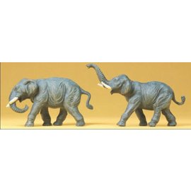 Preiser Elephants, 2 pieces kit, scale H0