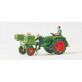Preiser Aardappel Poot Traktor, Schaal H0
