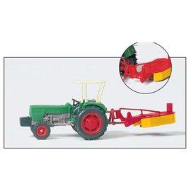 Preiser Traktor DEUTZ 6206 met maaimachine, Schaal H0