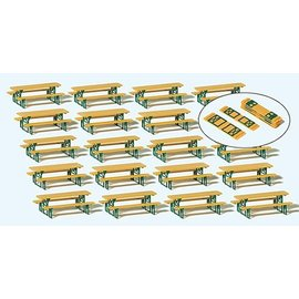 Preiser Beer table fittings, 20 pieces kit, Schale H0