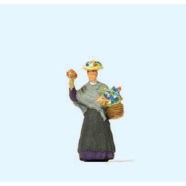Preiser Bloemenverkoopster, 1 figuur, Schaal H0