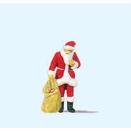 Preiser Santa Claus with sack of gifts, 1 figure, scal H0