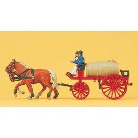 Preiser Paard met waterwagen, Schaal H0