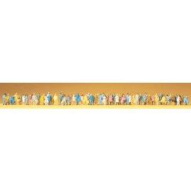 Preiser Passanten, 60 Stück, Einfachstbemalung, Spur N