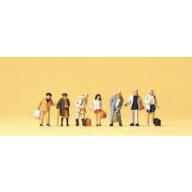 Preiser Standing passengers, 7 figures, scale N