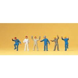 Preiser Industriearbeiter, 6 Figure, Spur N