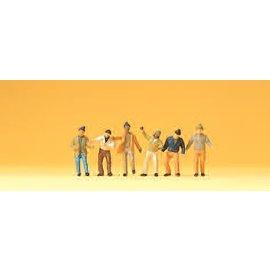 Preiser Arbeiders, 6 figuren, Schaal N
