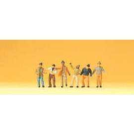 Preiser Arbeiter, 6 Figure, Spur N