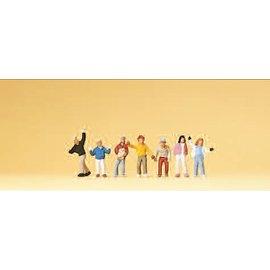 Preiser Kinderen, 7 figuren, Schaal N