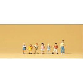 Preiser Schoolkinderen, 7 figuren, Schaal N