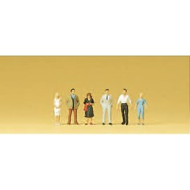 Preiser Passanten, 6 Figure, Spur N