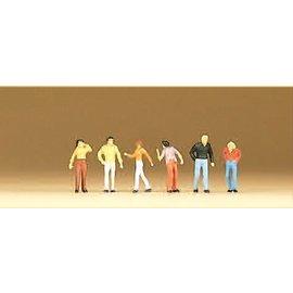 Preiser Walking passers-by, 6 figures, scale N