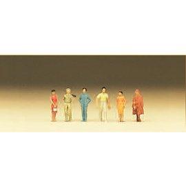 Preiser Passanten 6 Figure, Spur N