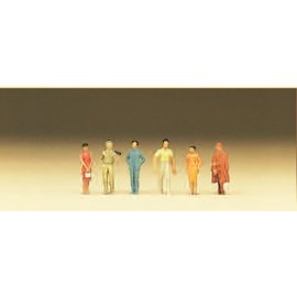 Preiser Passers-by, 6 figures, scale N