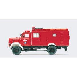 Preiser Feuerwehrauto Magirus SW 2000, 1 Figur, Spur H0