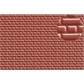 Slater's Plastikard SL399 Zelfbouwplaat Rode Baksteen Kruis verband(Schaal H0, Plastic)