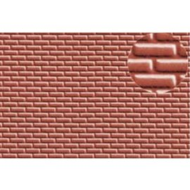 Slater's Plastikard Selbstbau Platte Rote Stein, Schaal H0, Plastic