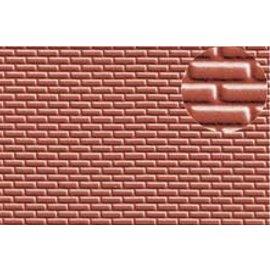 Slater's Plastikard Zelfbouwplaat rode baksteen Standaard motief, Schaal H0, Plastic