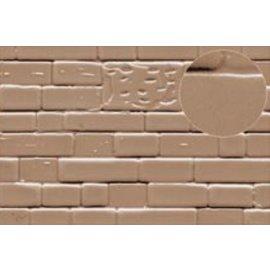 Slater's Plastikard SL424 Zelfbouwplaat gemetselde natuurstenen muur, Schaal H0, Plastic