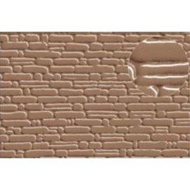 Slater's Plastikard Zelfbouwplaat natuurstenen muur, Schaal H0, Plastic