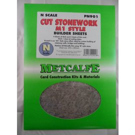 Metcalfe Builder Sheets  M1 style stone (N 1:160)