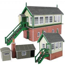 Metcalfe Metcalfe PN133 Set van 2 seinhuizen en bijgebouwtjes (N-Schaal)