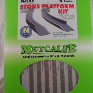 Metcalfe Metcalfe PN135 Bahnsteig aus grauem Baustein (Spur N)