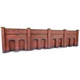 Metcalfe Retaining wall in red brick {N-gauge)