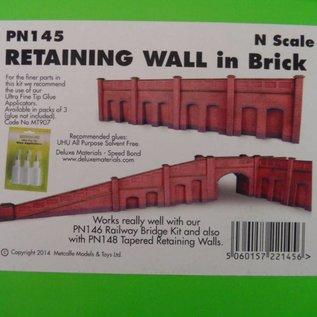 Metcalfe Metcalfe PN145 Arkadenstützmauer in rotem Backstein (Spur N)