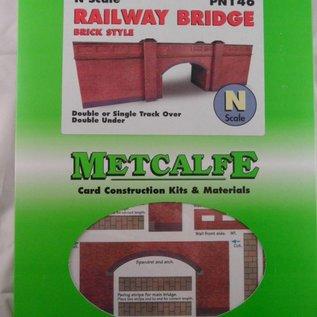 Metcalfe Metcalfe PN146 Eisenbahnbrücke in rotem Backstein (Spur N)