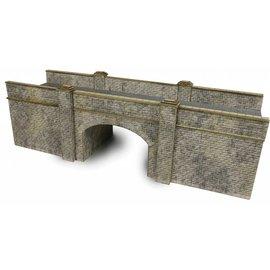 Metcalfe Metcalfe PN147 Spoorbrug in grijze steen (Schaal N, Karton)