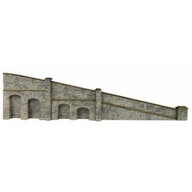 Metcalfe Metcalfe PN149 Tapered retaining wall in stone (N-Gauge)