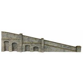 Metcalfe Tapered retaining wall in stone (N-Gauge)