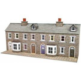 Metcalfe Low relief stone terraced houses (N-Gauge)