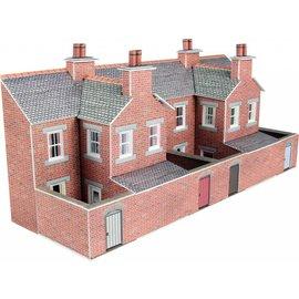 Metcalfe Achterzijde rijtjeshuizen in rode baksteen (Schaal N, Karton)