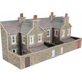 Metcalfe Low relief terraced stone house backs (N-Gauge)