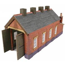 Metcalfe Single track engine shed in red brick (N-Gauge)