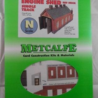 Metcalfe Metcalfe PN931 Single track engine shed in red brick (N-Gauge)