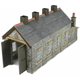 Metcalfe Single track engine shed stone style (N-Gauge)