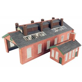 Metcalfe Double track engine shed (N gauge)