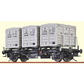 """Brawa Brawa 37155 Containerdraagwagen """"von Haus zu Haus"""" DB Ep. 3/4 Spoor 0"""