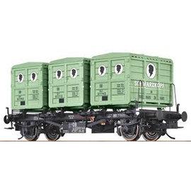 """Brawa Brawa 37159 Containertragwagen """"Schwarzkopf"""" DB Ep. 3/4 Spur 0"""