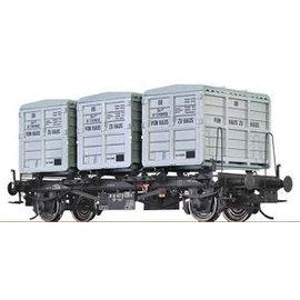 """Brawa Brawa 37161 Containercarrier """"von Haus zu Haus"""" DB Era. 3/4 Gauge 0"""